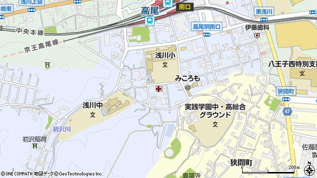 東京都八王子市初沢町1323周辺の地図