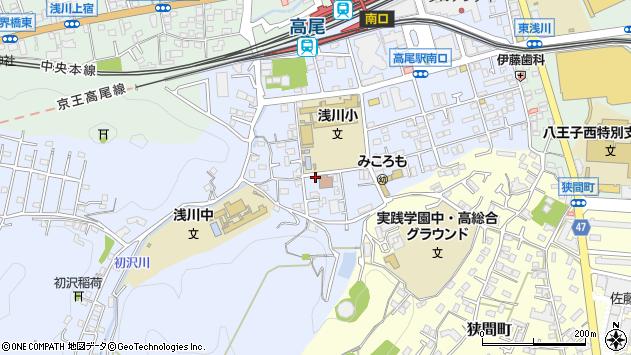 東京都八王子市初沢町1333周辺の地図