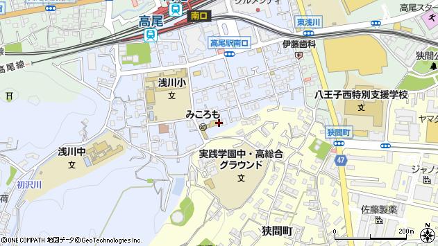 東京都八王子市初沢町1309周辺の地図