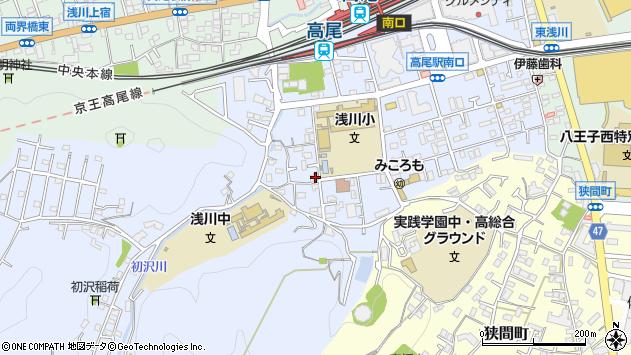 東京都八王子市初沢町1336周辺の地図