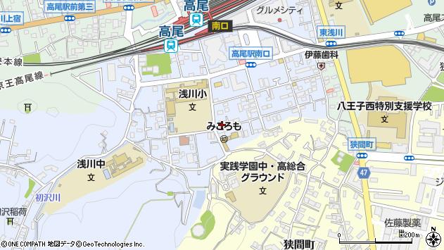 東京都八王子市初沢町1303周辺の地図