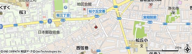 東京都世田谷区弦巻5丁目17-2周辺の地図