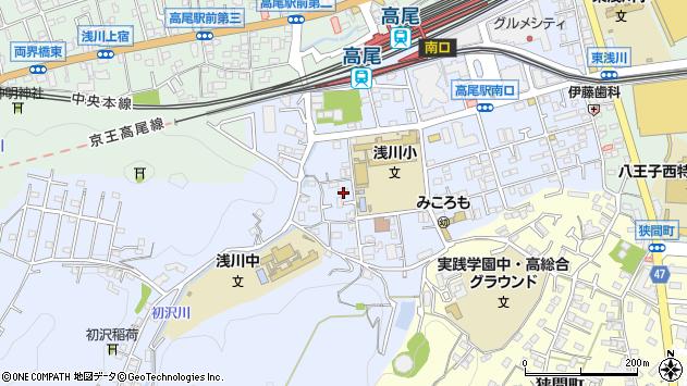東京都八王子市初沢町1339周辺の地図