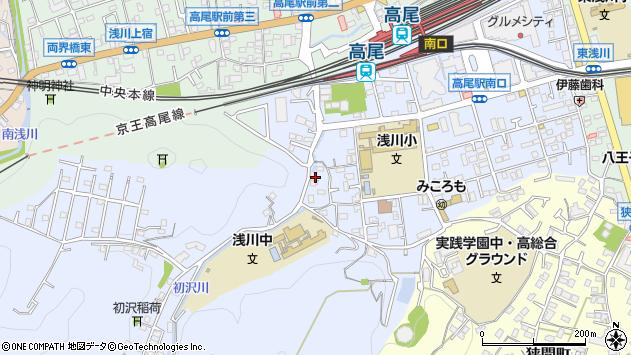 東京都八王子市初沢町1361周辺の地図