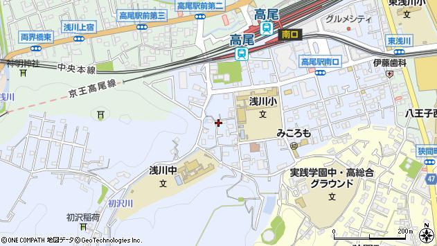 東京都八王子市初沢町1340周辺の地図