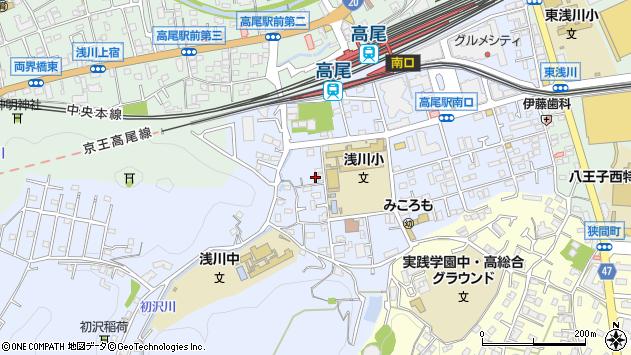 東京都八王子市初沢町1341周辺の地図