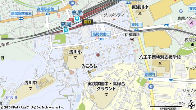東京都八王子市初沢町1306周辺の地図