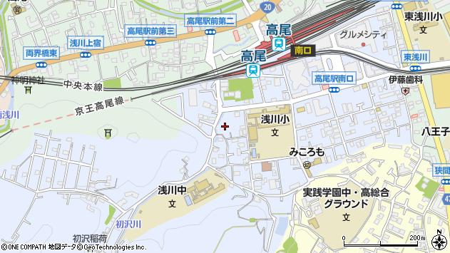 東京都八王子市初沢町1357周辺の地図
