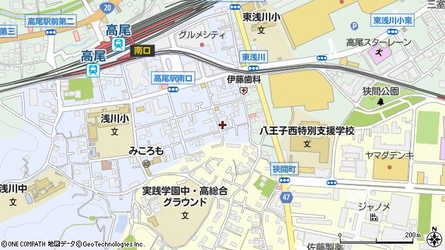 東京都八王子市初沢町1283周辺の地図