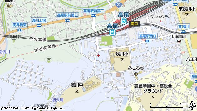 東京都八王子市初沢町1356周辺の地図