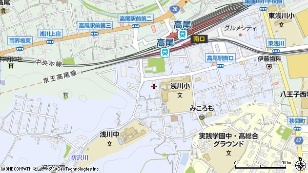 東京都八王子市初沢町1343周辺の地図