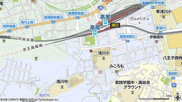 東京都八王子市初沢町1345周辺の地図