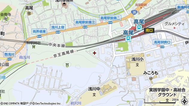 東京都八王子市初沢町1458周辺の地図