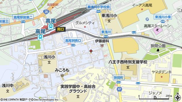 東京都八王子市初沢町1281周辺の地図