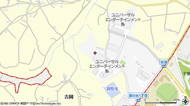 千葉県四街道市鷹の台1丁目3周辺の地図
