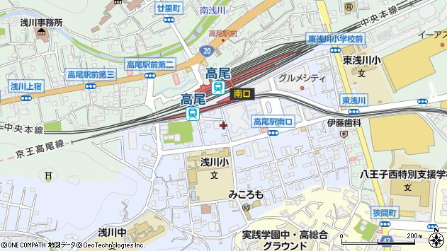 東京都八王子市初沢町1348周辺の地図