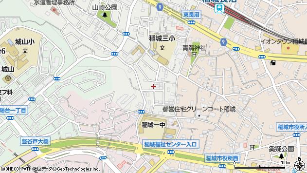 東京都稲城市大丸周辺の地図