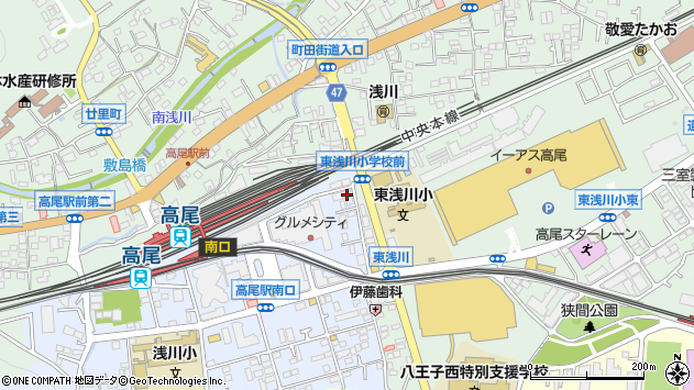 東京都八王子市初沢町1262周辺の地図