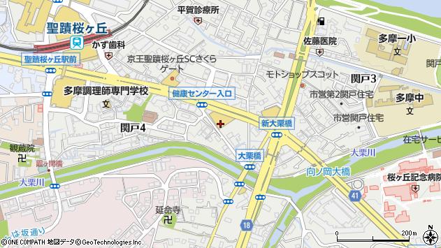 東京都多摩市関戸4丁目周辺の地図