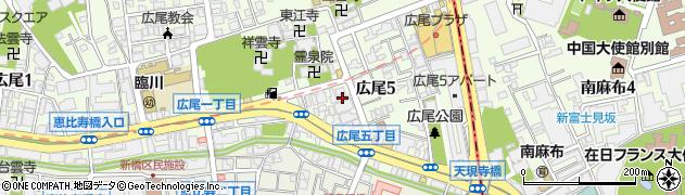 東京都渋谷区広尾5丁目19-7周辺の地図