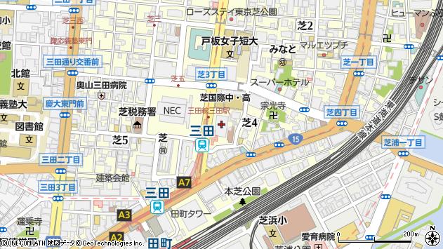 東京都港区芝4丁目1-23周辺の地図
