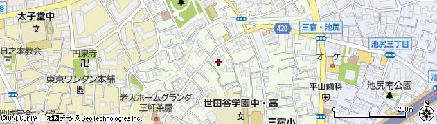 東京都世田谷区三宿1丁目周辺の地図