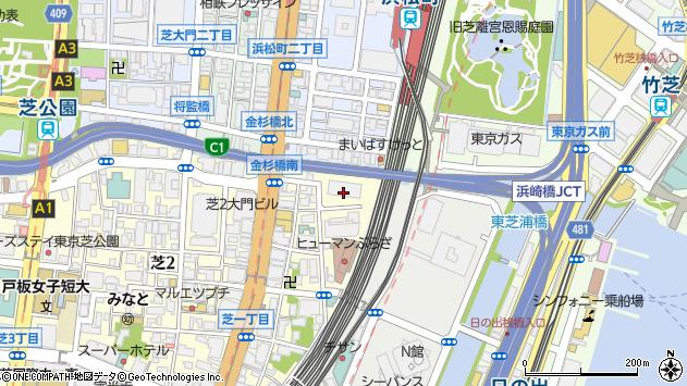 東京都港区芝1丁目2-1周辺の地図