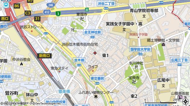 東京都渋谷区東1丁目22-4周辺の地図