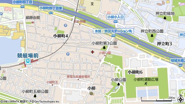 東京都府中市小柳町4丁目33周辺の地図