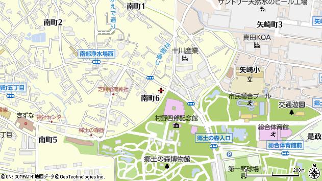 東京都府中市南町6丁目36-2周辺の地図