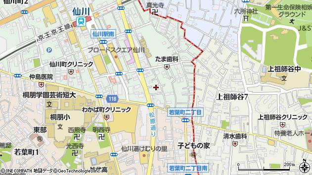 東京都調布市仙川町1丁目24-3周辺の地図