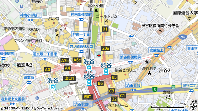 東京都渋谷区渋谷1丁目周辺の地図