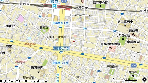 東京都江戸川区東葛西6丁目周辺の地図