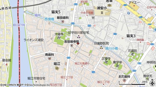 千葉県浦安市堀江3丁目周辺の地図