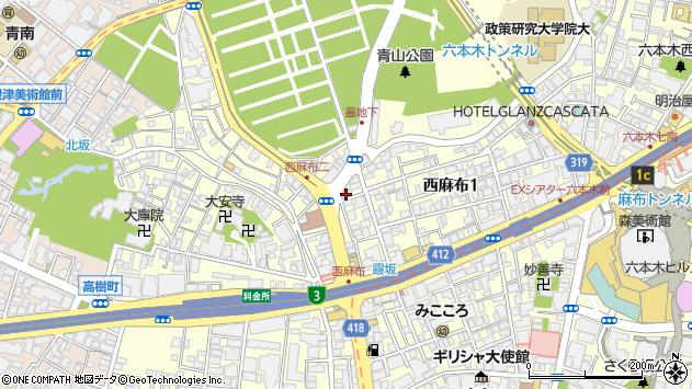 東京都港区西麻布1丁目14-17周辺の地図