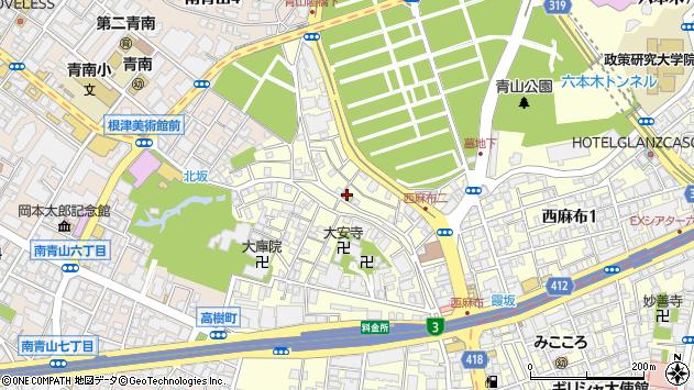 東京都港区西麻布2丁目9-16周辺の地図