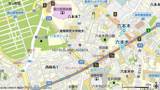 東京都港区六本木7丁目20-18周辺の地図