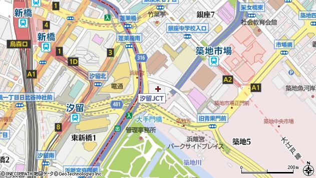 東京都中央区銀座8丁目21-1周辺の地図
