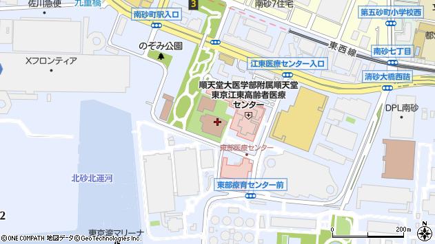 東京都江東区新砂3丁目周辺の地図