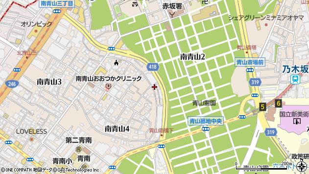東京都港区南青山4丁目3-1周辺の地図
