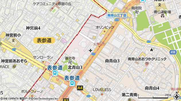 東京都港区北青山3丁目5-6周辺の地図