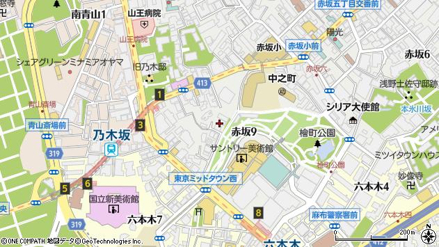 東京都港区赤坂9丁目5-12周辺の地図