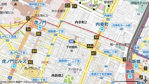 東京都港区西新橋1丁目周辺の地図