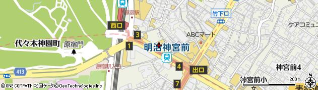 東京都渋谷区神宮前1丁目13-12周辺の地図