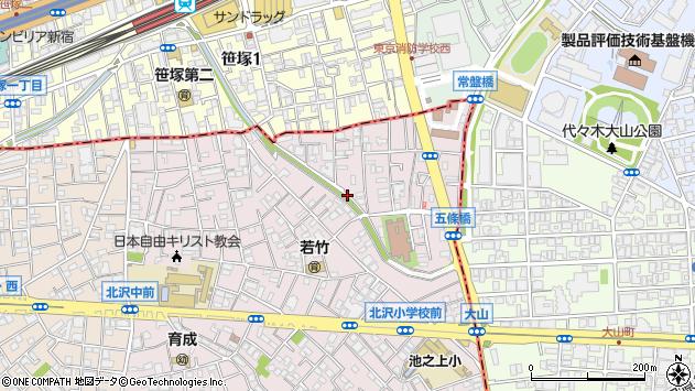 東京都世田谷区北沢5丁目周辺の地図