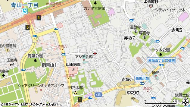 東京都港区赤坂8丁目7-15周辺の地図