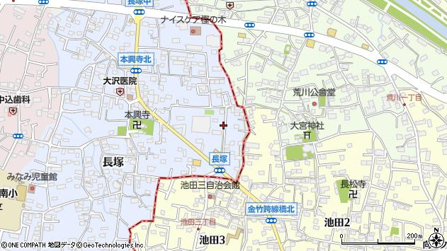 山梨県甲斐市長塚218周辺の地図