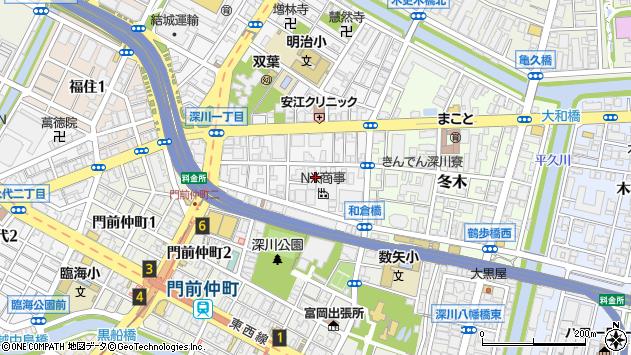東京都江東区深川2丁目2周辺の地図