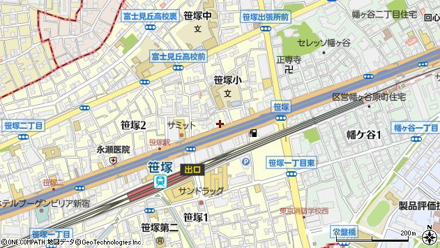 東京都渋谷区笹塚2丁目7-9周辺の地図