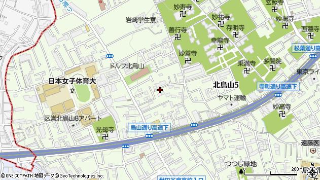 東京都世田谷区北烏山7丁目周辺の地図